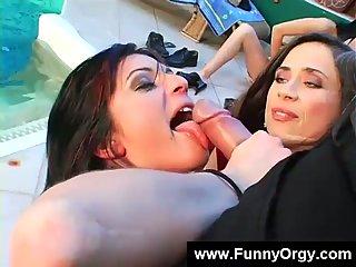Funny european ladies sucking cock