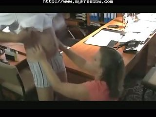 Busty Chick Fucking In Office