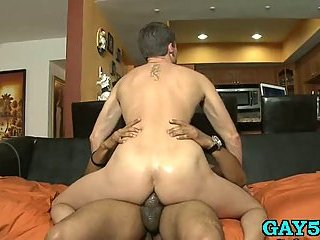 Straight guy taking cock deep in mouth