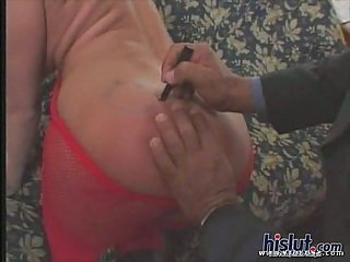 Mandy Bright double dicked & cummed