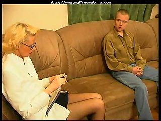 Russian mature fucked on sofa 2