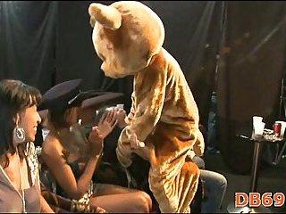 Girls sucking dirty dick of strip dancer scene 4