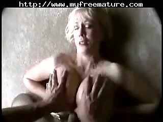 Big tits wife banging up cumshot