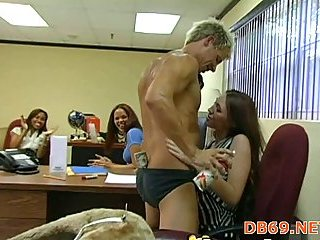 Having party & sex in office