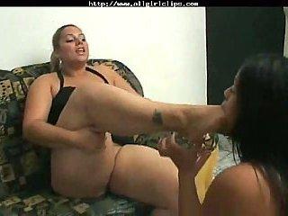 Eat My Fat Foot lesbian girl