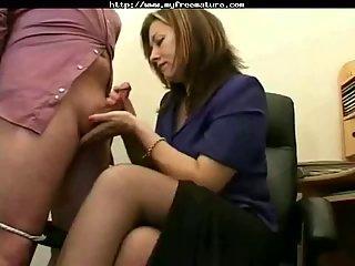 Great Handjob in Office