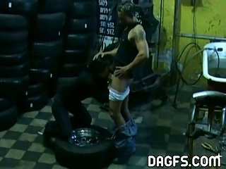 Fucking GF in the garage