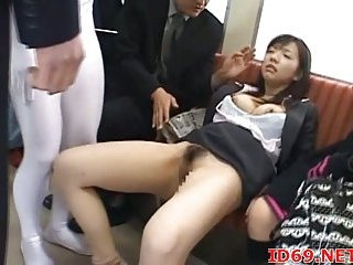 Japanese fingered in a train