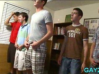 College gay sucking scene