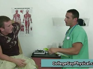 College guy get his dick examined