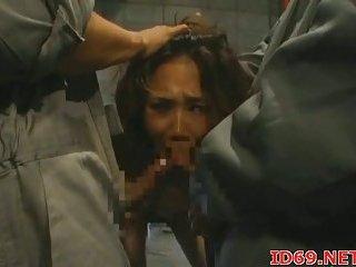 Japanese hottie bondaged