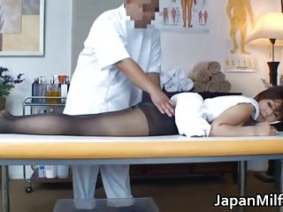 Jap milf gets sensual massage