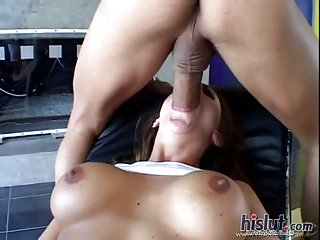 Julie took this cock hard and deep