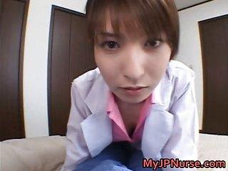 Ann Nanba Jap nurse shows her boobs