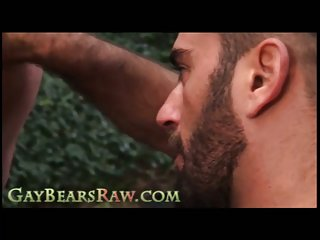 Dick Playing Raw Bears Outside