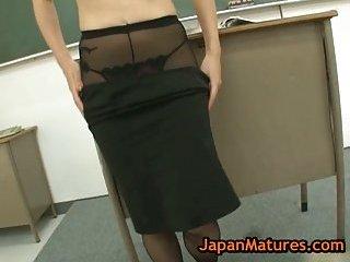 Natsumi Kitahara gets fucked by her pupils