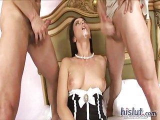 Mandy Saxo double dicked