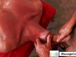 Real gay massage with blowjob