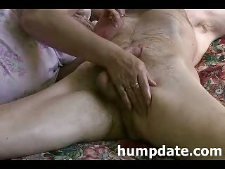 Thumb Mature wife strokes dick till he cums