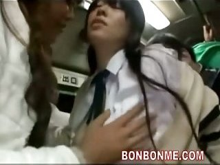 Schoolgirl seduced on bus