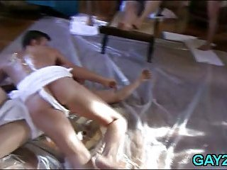 Anal gay amateur orgy