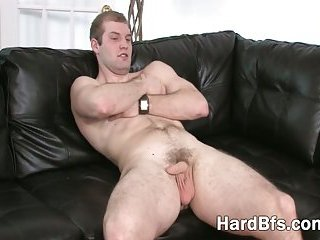 looking schlongs spunk muscly guy dull with and