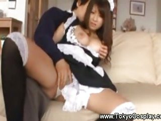 Thumb Asian maid gets naked for her horny boss