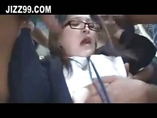 Thumb Schoolgirl hardcore group double penetration creampie on bus 02