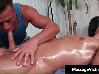 Dylan gets his anus oiled and fucked by fat cock