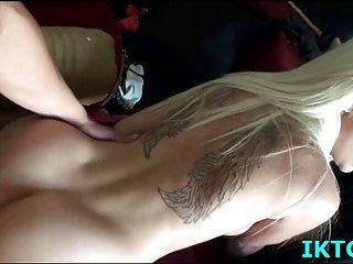 Flexible bitch with tattoo nailed
