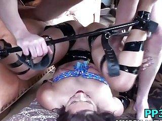 Curious girl girlfriend in bondage