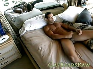 Gay solo action with hot stud