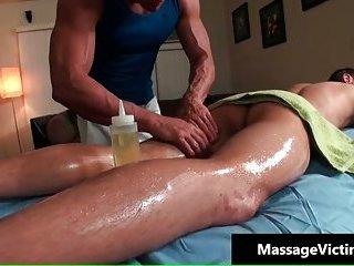 Brice gets his cute ass gay massaged