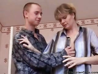 Russian Mom Bangs With Son