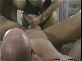 Angelo likes to be fucked with strap on