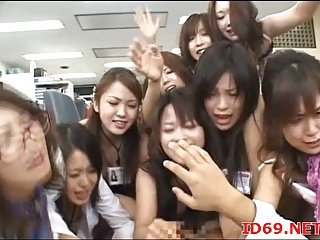 Japanese babe and her friends