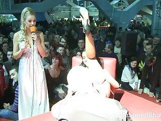 Slutty stripper going wild at the show
