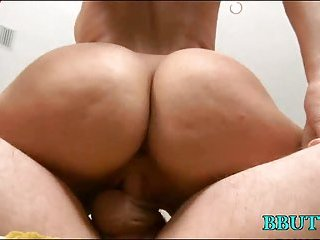 Girl with big ass rides cock