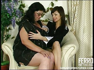 BBW Victoria C with young lesbian