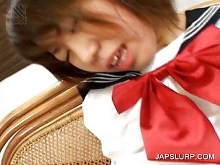Masturbation with asian schoolgirl