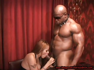 Big boobed doll gets big black dick