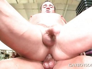 Gay ass fucking in gym