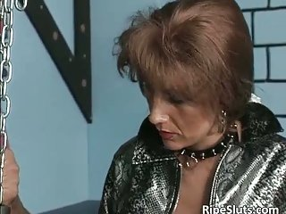 Kinky and fetish action with slave licking mistresses pee