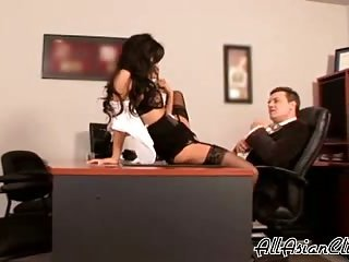 Sexy Asian Secretary Fucked On Desk