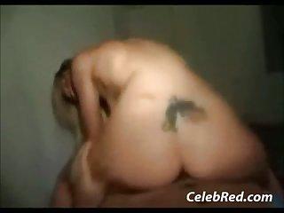 Blonde Tattoo Teen Riding Dick