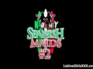 Two naughty but sexy Latina maids
