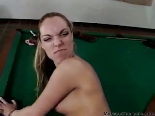 Game Of Pool Leads To Sex Shemale