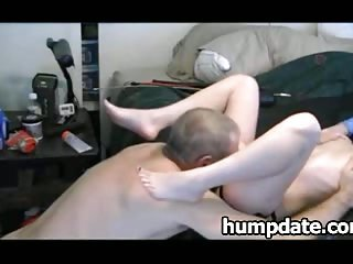Husband gets his ass fucked with huge strapon