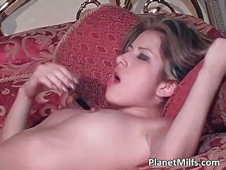 Hot lesbian sex with amazing busty milfs on the bed