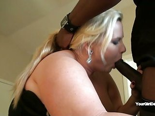 Desiree gets big black cock